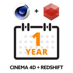 Maxon Cinema 4D Subscription + Redshift Subscription 1 Year